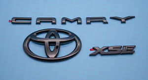 2018 2021 Toyota Camry Xse Gloss Black Out Emblem Overlay Kit 00016 32094