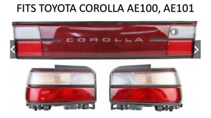 Toyota Corolla Ae100 Ae101 Rear Tail Lights Lamp Reflector Bonnet Garnish