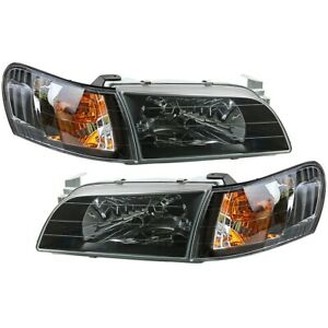 Toyota Corolla Ae100 Ae101 E100 Seg Crystal Black Head Lights Corner Lamps