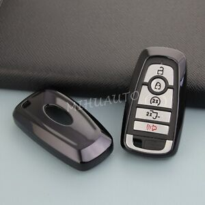 Car Black Tpu Smart Key Fob Case Cover For Ford Focus Fusion Explorer Lincoln