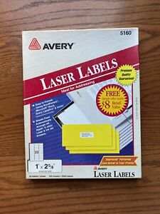 Box 2250 Avery 5160 8160 Address Mailing Shipping Labels 1 X 2 5 8 Laser