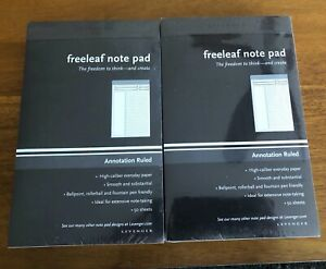 10 Levenger Freeleaf Note Pads Circa Junior Size Annotation Ruled 50 Sheets Pads