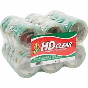 Duck Hd Clear Packaging Tape 1 88 In X 54 6 Yd Clear 24 count New
