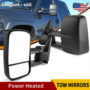 Lh Rh Side Tow Mirrors Power Heated For 99 02 Chevy Silverado 1500 2500 3500