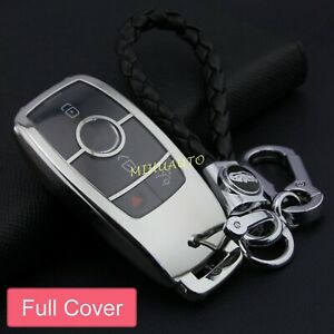 Silver Tpu Car Smart Key Fob Chain Case For Bmw Cla Cls Gls Gle A C E S G Class