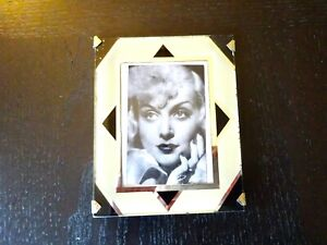 Art Deco Reverse Painting Frame Glass Vintage Mid Century 4 X5 Photo