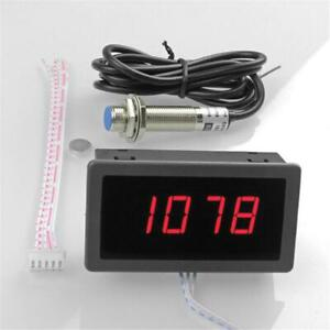 1x Digital Red Led Tachometer 10 9999 Rpm Meter Gauge Proximity Switch Sensor