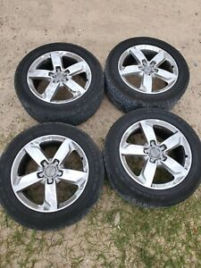 Audi Q7 2015 4 Used 19 Inch Rims Oem And Tires not Included Pressure Sensor