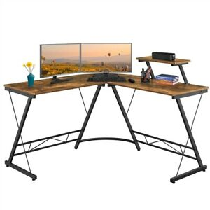 51 L Shaped Computer Corner Desk Pc Laptop Workstation Home Office Small Space
