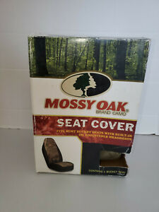 Mossy Oak Seat Cover For Bucket Seats With Headrest Fits Most