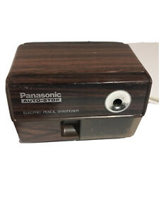 Vintage Panasonic Electric Pencil Sharpener Kp 110 Japan Made Auto stop Smooth