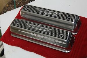 1955 56 57 Ford T Bird Thunderbird Finned Aluminum Valve Covers 292 312 Y Block