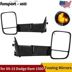 Pair Power Heated Towing Mirrors For 2009 2015 Dodge Ram 1500 2500 3500 Pickup