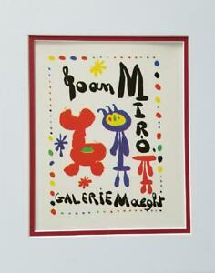 Joan Miro Galerie Maeght Exhibition Poster Print Matted Offset Lithograph 1980