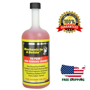 New Mechanic In A Bottle Synthetic Fuel Additive 24 Oz 2 4 Cycle Engine Repairs