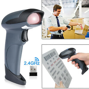 Portable 2in1 Wireless Barcode Scanner Handheld For Retail Supermaket Warehouse