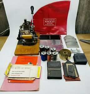Kingsley Hot Foil Stamping Machine With Foil Cover Manuals And More