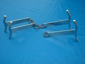 Polished S S Nerf Bars Front Back 8 10 1930 31 32 34 37 Ford Hot Rod 2 Pr