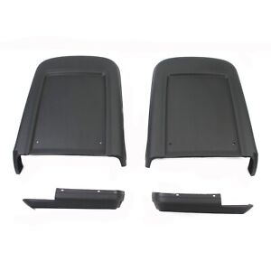 1967 Mustang Seat Backs And Covers Deluxe Interior Black 4 Piece Set New