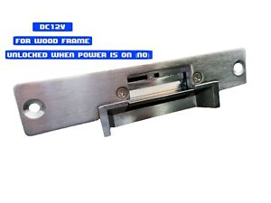 Electric Strike Lock No Stainless Steel Dc 12v For Access Control Wood Door