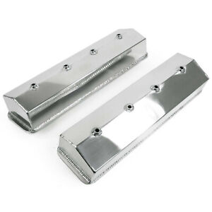 Power Products Fabricated Aluminum Valve Covers Sbc Center Bolt 4 Tall Pvt56234