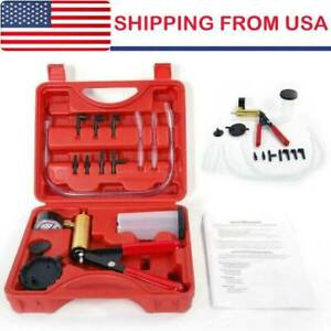 Brake Bleeder Vacuum Pump Tester Hand Held Tool Kit Manual Pistol Pump W Box Vk
