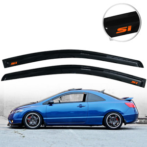 Fit For 06 11 Honda Civic Coupe Window Visor Deflector Rain Shade Guard W Si
