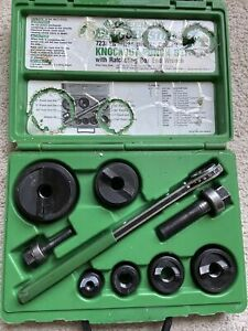Euc Greenlee 7238sb Slug Buster 1 2 Thru 2 Knockout Ko Set Punch Kit