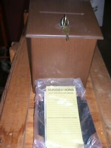Wood Locking Wall Mountable Stain And Varnish Suggestion Box