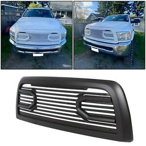 For 2010 2018 Dodge Ram 2500 3500 Matte Black Big Horn Front Hood Bumper Grille