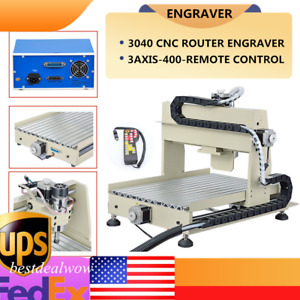 3 Axis Cnc 3040 Router Engraving Milling Drilling Machine 3d Cutter 400w rc
