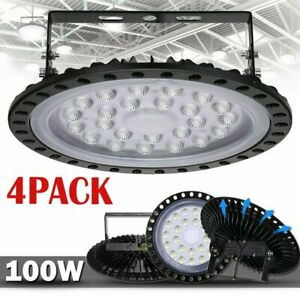 4x 100w Ufo Led High Bay Light Gym Factory Warehouse Industrial Shed Lighting