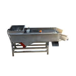 Updated 1 Pc 220v Full Stainless Linear Vibrating Screen W 2 80w Motor Newest