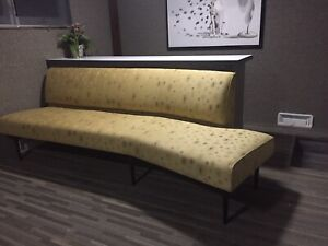 Edward Wormley Dunbar Style Mid Century Modern Sofa Room And Board Angled Sofa