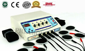 Professional Electrotherapy Physical Stressrelief Therapy Machine 4 Channel Unit