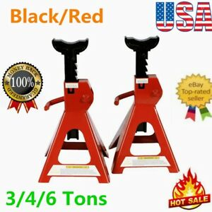 3 4 6 Tons Jack Stands 4 Legged Steel Base Heavy Duty For Car Truck Auto 2 Pc Us
