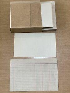 Vintage Index Cards 4 x6 Lined Both Sides No Labels Accounting Cards Paper Wrap