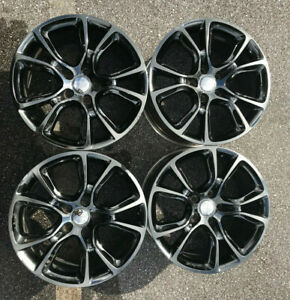 20 Jeep Grand Cherokee Srt8 Black Alloy Wheels Oem Rims 2015 Durango Trailhawk