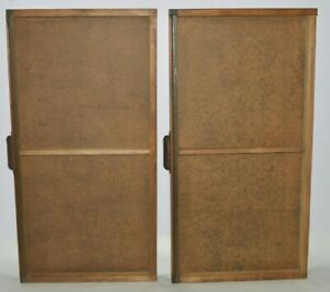 Pair Of Vintage Printer s Type Drawer Full Size Empty Wood Type Cases 2 Sections