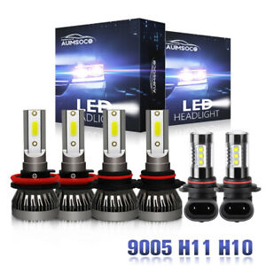 For Ford Escape 2013 2016 6x Combo 9145 H11 9005 6000k Led Headlight Bulbs Kit