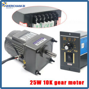110v 25w Ac Gear Motor 1 10 135rpm Electric Motor Variable Speed Controller Us