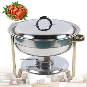 4l Stainless Steel Food Warming Container Chafing Dish Food Warmer Insulation