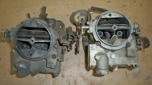 Two Rochester 2 Jet Carburetor Carb R2 2gv 7029104 1969 Chevy Gmc V8 Truck