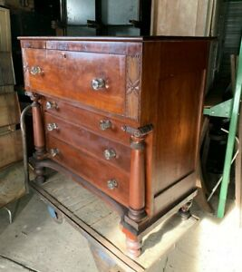 Antique Empire Butler S Chest Of Drawers Secretary Desk Dresser Storage Cabinet