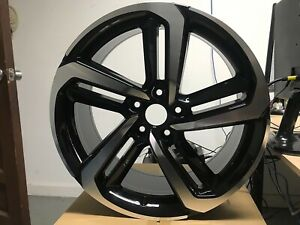 20x8 5 2018 Set Of Four Accord Sport Style Black Rims Fits Honda Crv Civic Si