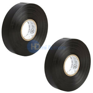 2x Insulating Tape Black Electrical Tape 65ft Roll