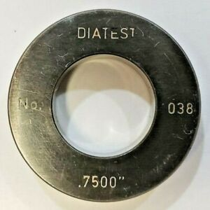 Diatest Bore Gauge Ring No 038 0 7500