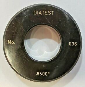 Diatest Bore Gauge Ring No 036 0 6500