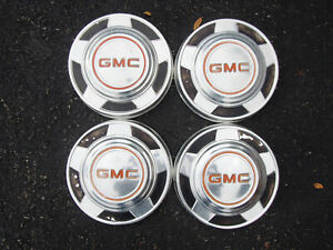 Vintage Oem 1973 87 Gmc 2wd 1 2 Ton Truck Dog Dish Poverty Hubcaps Wheel Covers