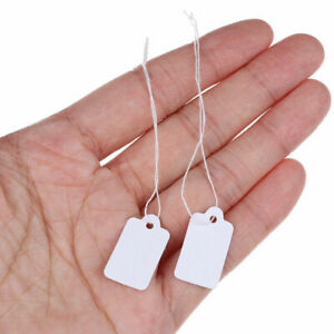 Label Tie String Tag Jewelry Merchandise Display Price Tags 25 Pieces